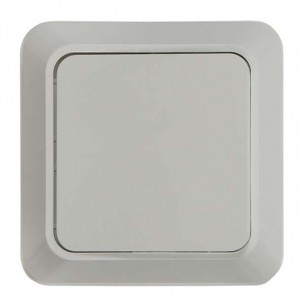 Выключатель 1-кл. ОП Bolleto 10А IP20 7021 бел. ASD / IN HOME 4680005959747