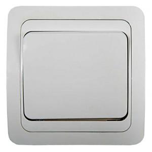 Выключатель 1-кл. СП Classico 10А IP20 2021 бел. ASD / IN HOME 4680005959846