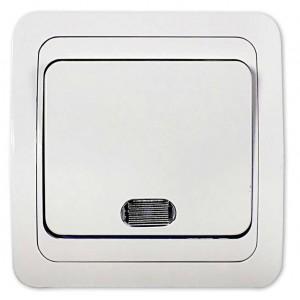 Выключатель 1-кл. СП Classico 10А IP20 с подсветкой 2121 бел. ASD / IN HOME 4680005959853