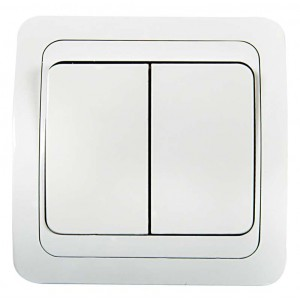 Выключатель 2-кл. СП Classico 10А IP20 2023 бел. ASD / IN HOME 4680005959860