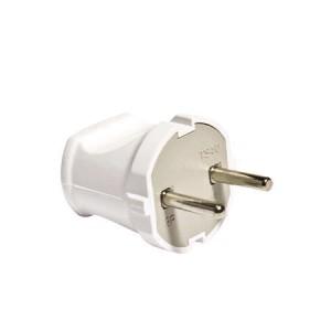 Вилка электрическая 6А 250В без заземл. бел. (еврослот) UNIVersal А113