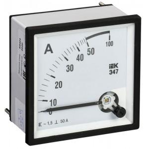Амперметр Э47 72х72мм 50А кл. точн. 1.5 IEK IPA10-6-0050-E
