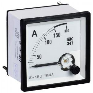Амперметр Э47 72х72мм 150/5А кл. точн. 1.5 IEK IPA10-6-0150-E