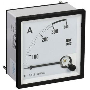 Амперметр Э47 72х72мм 300/5А кл. точн. 1.5 IEK IPA10-6-0300-E