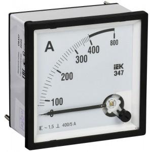 Амперметр Э47 72х72мм 400/5А кл. точн. 1.5 IEK IPA10-6-0400-E