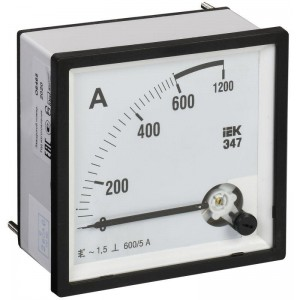 Амперметр Э47 72х72мм 600/5А кл. точн. 1.5 IEK IPA10-6-0600-E