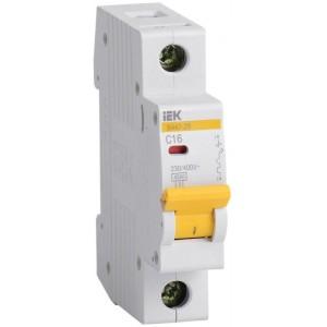 Выключатель автоматический модульный 1п C 16А 4.5кА ВА47-29 IEK MVA20-1-016-C