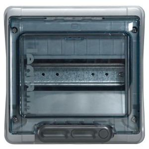 Бокс ОП Plexo IP65 8м сер/дым. двер. Leg 601978