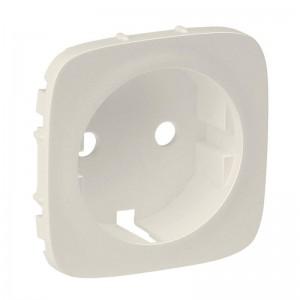 Панель лицевая Valena Allure для розетки 2К+З сл. кость Leg 755206