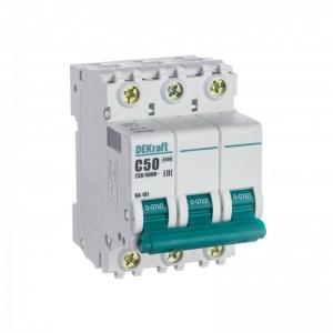 Выключатель автоматический модульный 3п C 50А 4.5кА ВА-101 SchE 11083DEK
